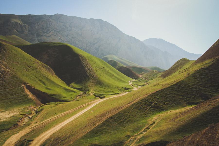 フリー写真 アフガニスタンの山と谷の風景
