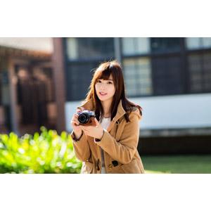 フリー写真, 人物, 女性, アジア人女性, 中国人, apple(00128), カメラ, ミラーレス一眼カメラ, 富士フイルム, コート