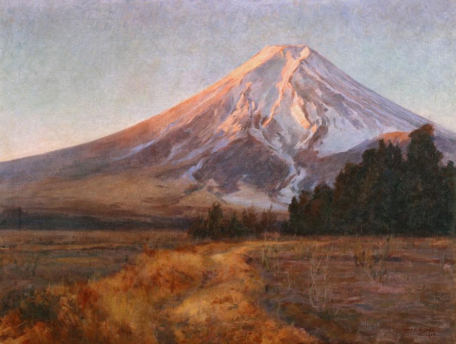 フリー絵画 和田英作作「富士」