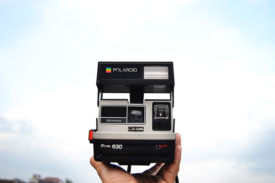 フリー写真 サン630のポラロイドカメラ