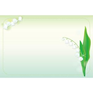 フリーイラスト, ベクター画像, AI, 背景, フレーム, 囲みフレーム, 植物, 花, 鈴蘭(スズラン), 白色の花