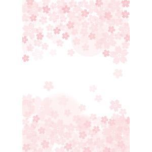フリーイラスト, ベクター画像, EPS, 背景, 花柄, 桜(サクラ), ピンク色, 春