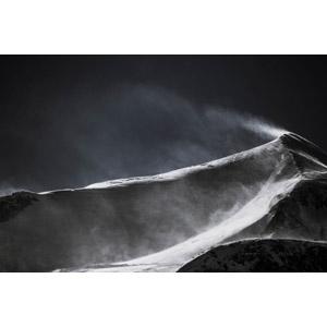 フリー写真, 風景, 自然, 山, 雪, 吹雪, フランスの風景, モノクロ