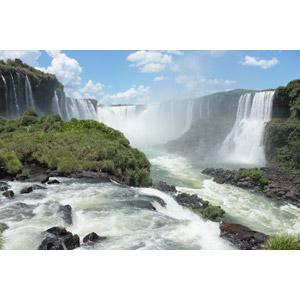 フリー写真, 風景, 自然, 滝, イグアスの滝, アルゼンチンの風景, ブラジルの風景