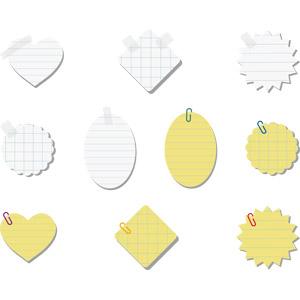 フリーイラスト, ベクター画像, AI, 紙(ペーパー), メモ用紙, 文房具, クリップ