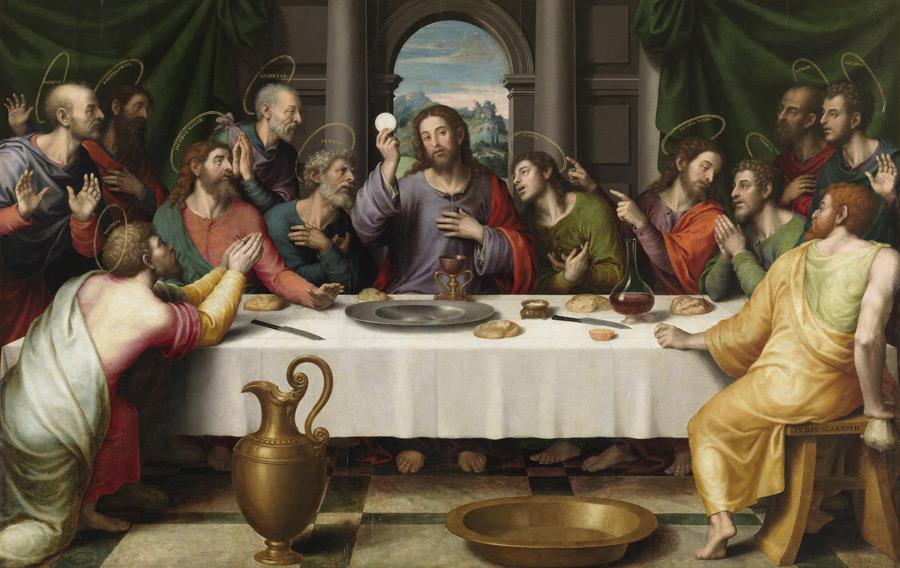 フリー絵画 ビセンテ・フアン・マシップ作「最後の晩餐」