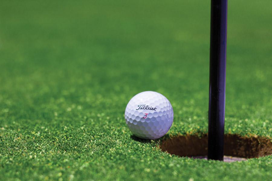 フリー写真 ゴルフのカップとボール