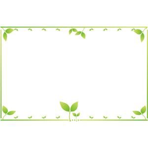 フリーイラスト, ベクター画像, AI, 背景, フレーム, 囲みフレーム, 植物, 新芽, 新緑