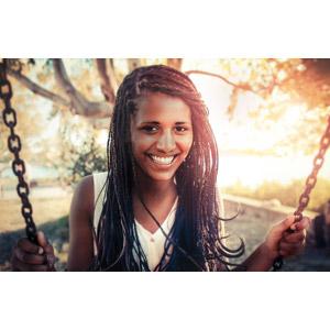 フリー写真, 人物, 女性, 黒人女性, ブレイズヘア