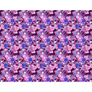フリーイラスト, ベクター画像, AI, 背景, 和柄, 鞠(毬), 花柄, 牡丹(ボタン), 紫色(パープル)