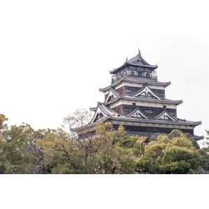 フリー写真, 風景, 建造物, 建築物, 城, 日本の風景, 広島県
