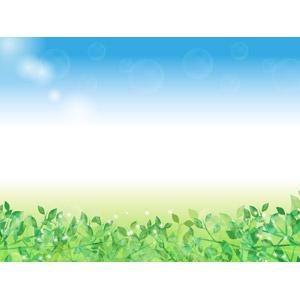 フリーイラスト, ベクター画像, AI, 背景, 植物, 葉っぱ, 新緑
