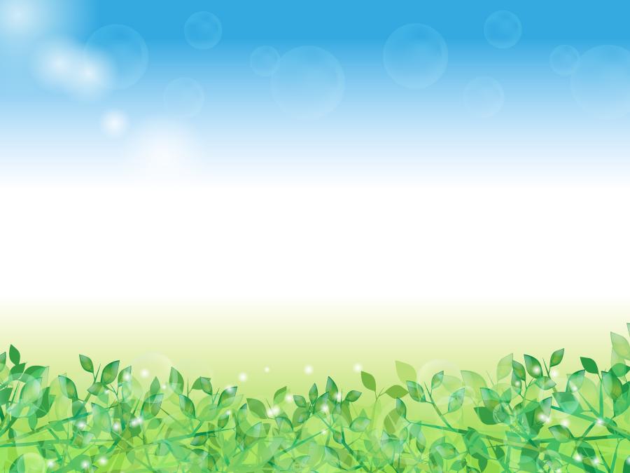 フリーイラスト 新緑の葉っぱの背景