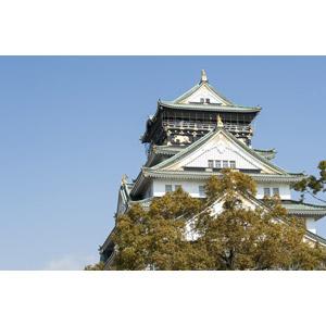 フリー写真, 風景, 建造物, 建築物, 城, 大阪城(大坂城), 日本の風景, 大阪府