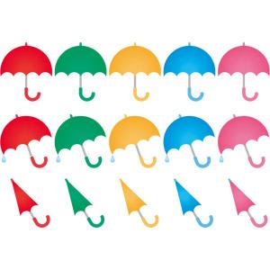 フリーイラスト, ベクター画像, AI, 雨具, 傘, 6月, 梅雨