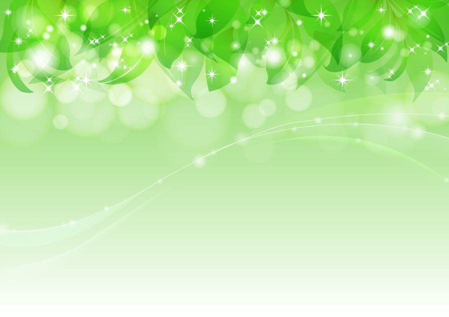 フリーイラスト 若葉と光の玉の背景