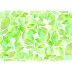 フリーイラスト, ベクター画像, AI, 背景, 植物, 葉っぱ, 新緑, 緑色(グリーン)