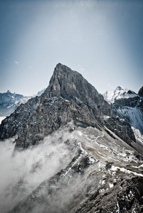 フリー写真 ブンダーシュピッツの山の風景