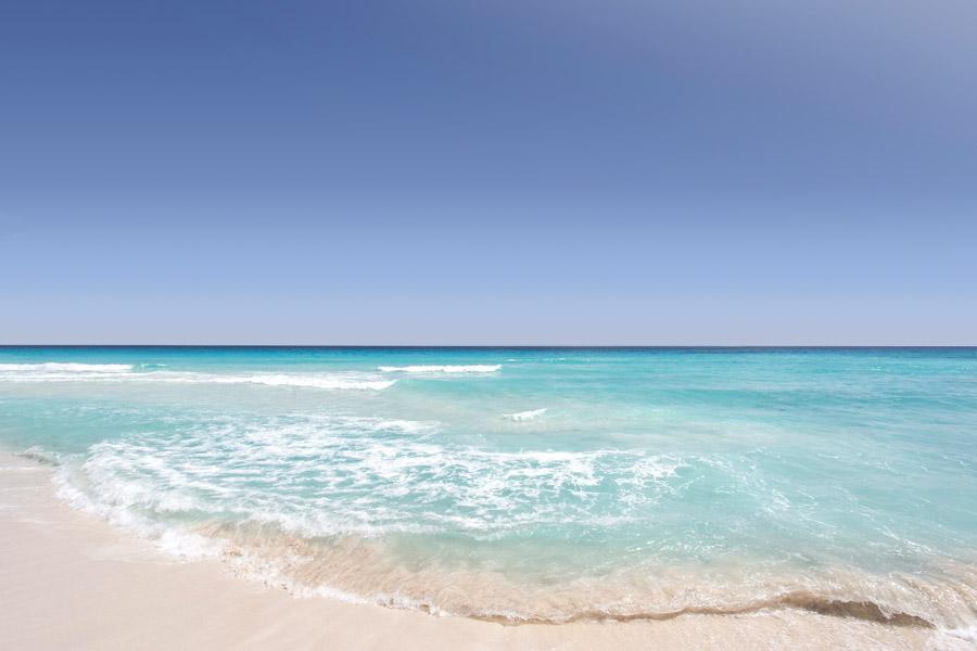 フリー写真 メキシコの波打ち際の風景