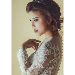 フリー写真, 人物, 女性, 外国人女性, 結婚式(ブライダル), ウェディングドレス