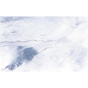 フリー写真, 風景, 航空写真, 雪, 河川, 冬, アイスランドの風景, 白色(ホワイト)
