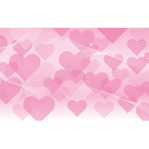 フリーイラスト, ベクター画像, EPS, 背景, ハート, ピンク色, 波線
