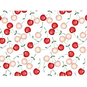 フリーイラスト, ベクター画像, AI, 背景, 食べ物(食料), 果物(フルーツ), さくらんぼ(サクランボ)
