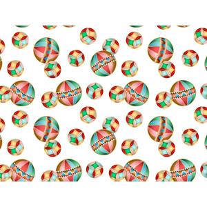フリーイラスト, ベクター画像, AI, 背景, 鞠(毬), 和柄