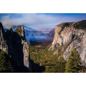 フリー写真, 風景, 渓谷, ヨセミテ国立公園, カリフォルニア州, アメリカの風景, 世界遺産, 岩山