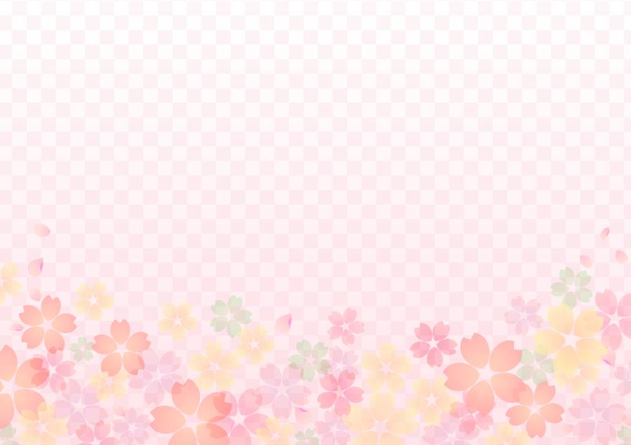 フリーイラスト 市松模様と桜の花柄の背景