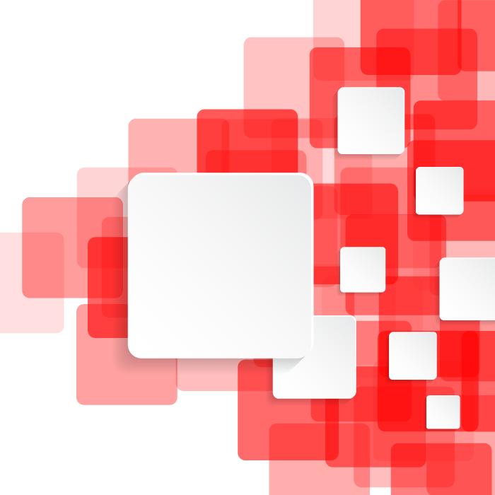 フリーイラスト 赤と白の四角形の背景