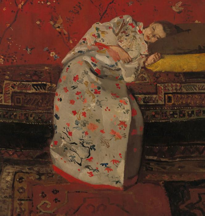 フリー絵画 ヘオルヘ・ヘンドリック・ブレイトネル作「白い着物の少女」