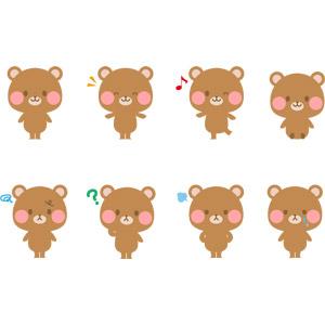 フリーイラスト, ベクター画像, AI, 動物, 哺乳類, 熊(クマ), 泣く(動物), 怒る(動物)