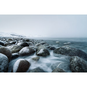 フリー写真, 風景, 自然, 海岸, 海, ロシアの風景, ムルマンスク州, 冬