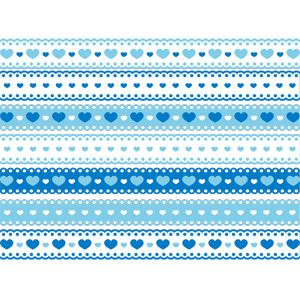 フリーイラスト, ベクター画像, AI, 飾り罫線(ライン), ハート, レース編み