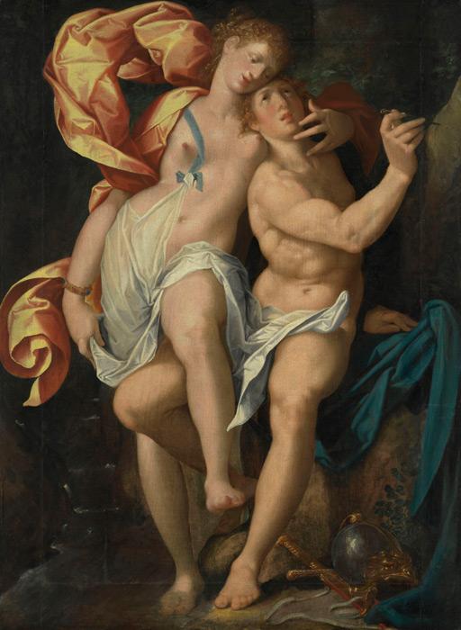 フリー絵画 バルトロメウス・スプランヘル作「アンジェリカとメドロ」