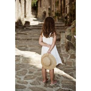 フリー写真, 人物, 子供, 女の子, 後ろ姿, 帽子, 麦わら帽子