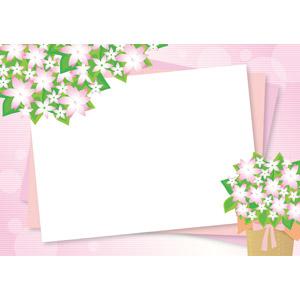 フリーイラスト, ベクター画像, AI, 背景, フレーム, 囲みフレーム, 花, ピンク色の花, ピンク色, ボーダー柄