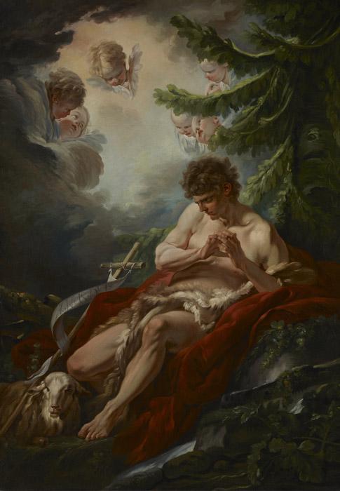 フリー絵画 フランソワ・ブーシェ作「洗礼者ヨハネ」