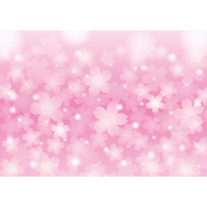 フリーイラスト, ベクター画像, AI, 背景, 花柄, 桜(サクラ), ピンク色, 輝き, 春