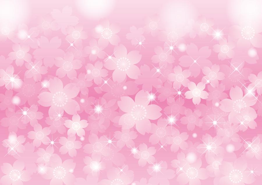 フリーイラスト さくらの花とキラキラ輝く光の背景