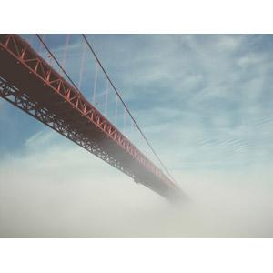 フリー写真, 風景, 建造物, 橋, ゴールデンゲートブリッジ, アメリカの風景, カリフォルニア州, サンフランシスコ, 雲