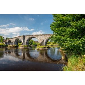 フリー写真, 風景, 建造物, 橋, 河川, イギリスの風景, スコットランド
