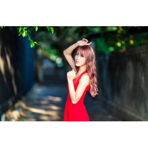 フリー写真, 人物, 女性, アジア人女性, 中国人, 女性(00173), ドレス