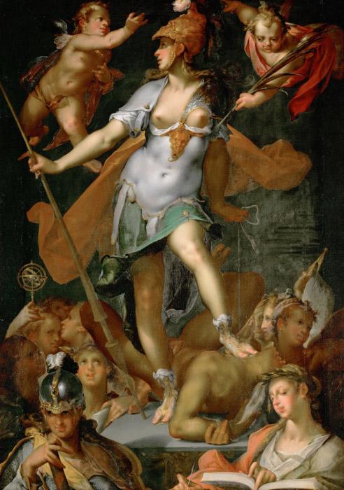 フリー絵画 バルトロメウス・スプランヘル作「無知に勝利するミネルヴァ」