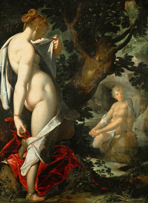 フリー絵画 バルトロメウス・スプランヘル作「サルマキスとヘルマプロディートス」