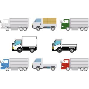 フリーイラスト, ベクター画像, AI, 乗り物, 自動車, 貨物自動車, トラック, 軽トラック