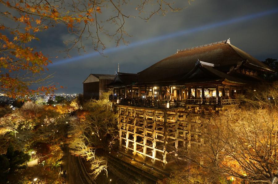 フリー写真 清水寺の夜景