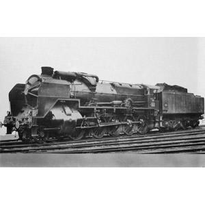フリー写真, 乗り物, 列車(鉄道車両), 蒸気機関車, フランスの鉄道車両, モノクロ