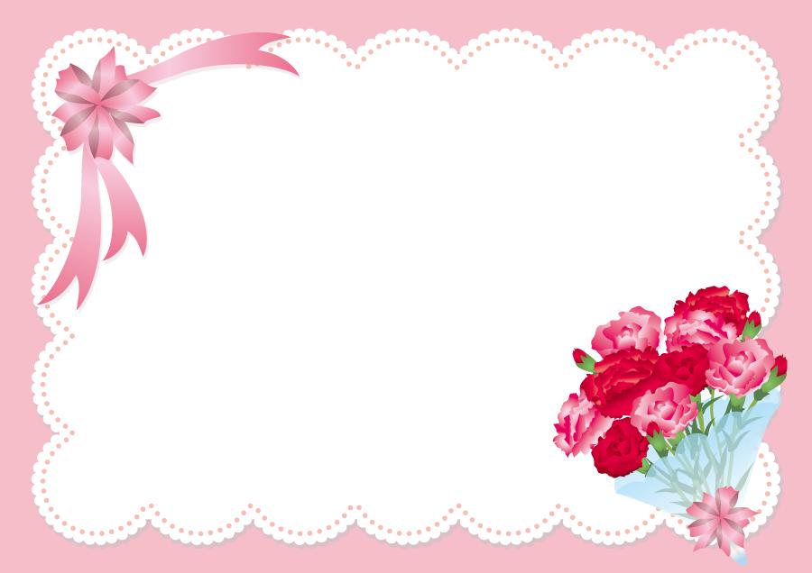 フリーイラスト 母の日のメッセージカード